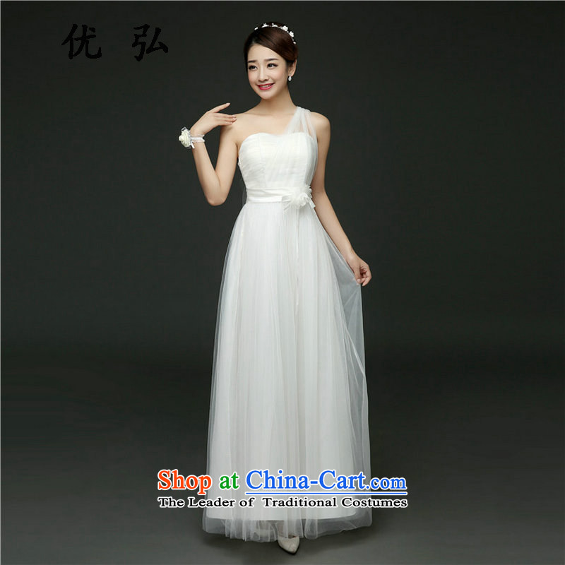 Optimize video bridesmaid dress new long banquet will bridesmaid services serving evening dresses cx6915 bows White�XL