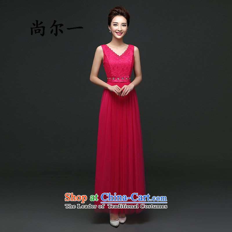 Naoji a bridesmaid services bridesmaid mission dress new bridesmaid skirt sister skirt evening dress Long Female 91101?125-135 in the red xl catty