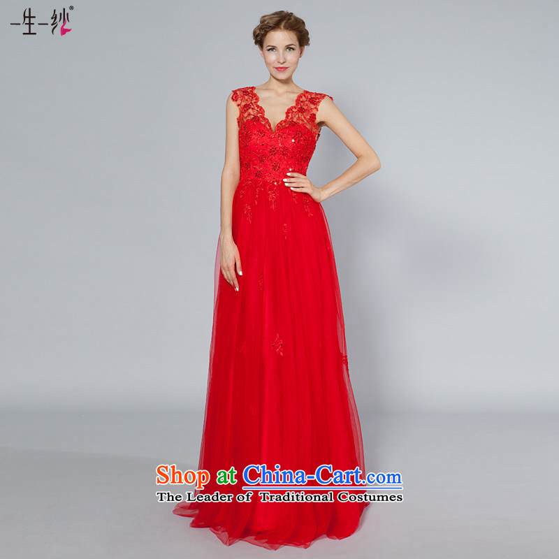 A lifetime of wedding dress new 2015 lace V-Neck bows to Top Loin video thin bon bon skirt?30240960??170/94A red 30 days pre-sale
