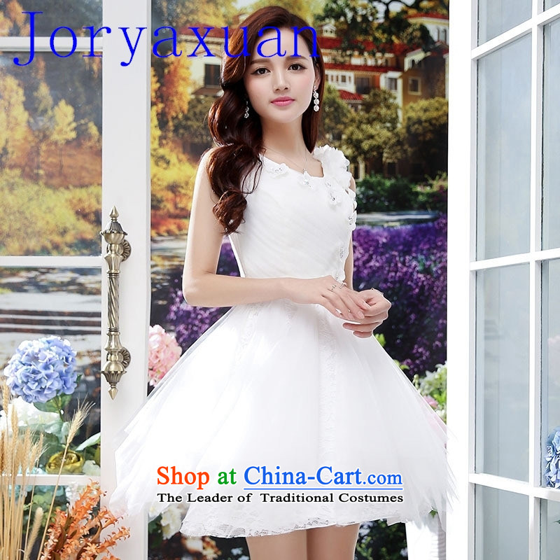 The short version of the Korean bon bon skirt small dress bridesmaid mission bridesmaid small dress dresses bride evening wedding dress White?XL