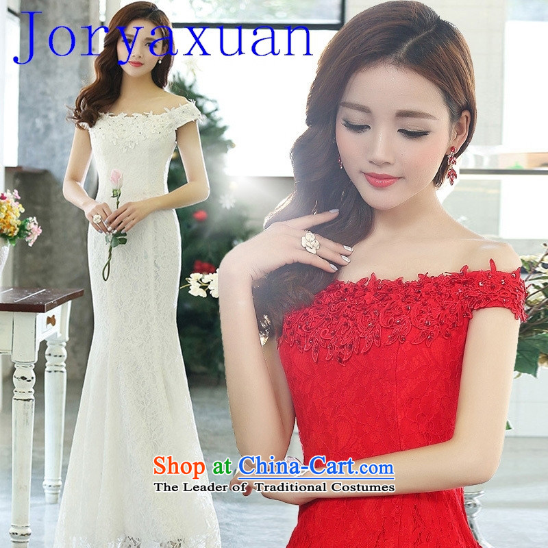 New marriages bows dress Top Loin shoulders bridesmaid dress stylish evening dresses red�XL