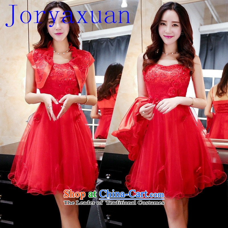 2015 new summer stylish bridal dresses red dress bridal dresses two kits picture color?XL
