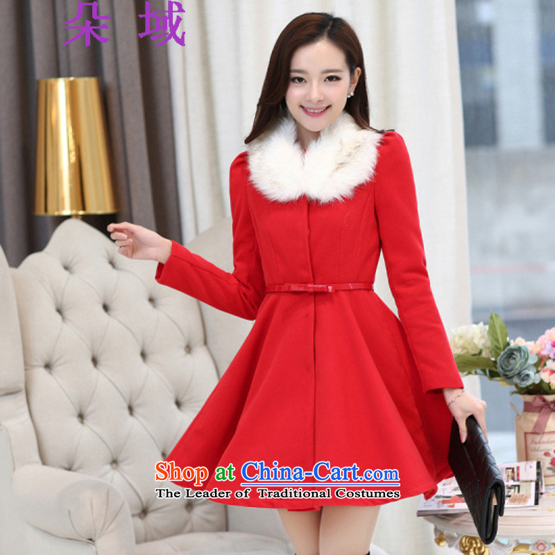 A new 2015 Domain bride replacing dress removable for sweet petals for Sau San large gross coats jacket? 2002 RED?M
