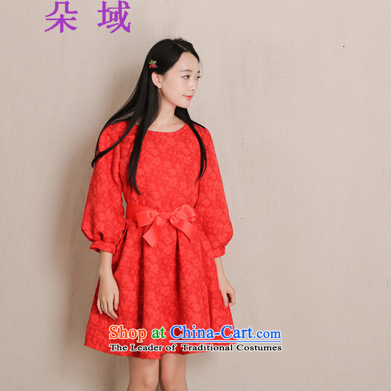 Load the autumn 2015 domain and the new red-hi-back door service New Year bridal dresses dresses G413A929 RED?L