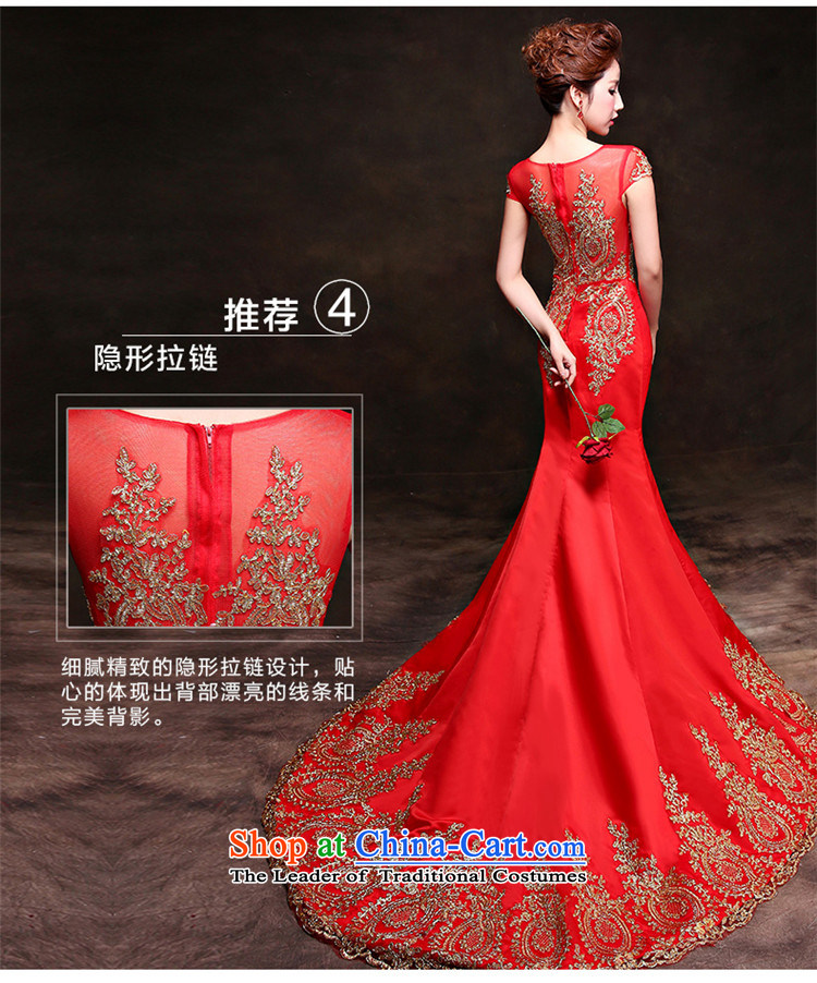 Toasting champagne HANNIZI Services 2015 new stylish and simple bride wedding dress banquet dress Sau San wine red S picture, prices, brand platters! The elections are supplied in the national character of distribution, so action, buy now enjoy more preferential! As soon as possible.