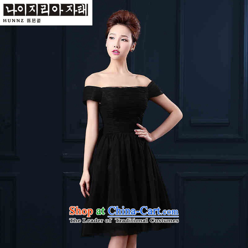 ?     ?Toasting champagne HANNIZI Services 2015 word with stylish shoulder, black dress bows service banquet black?L