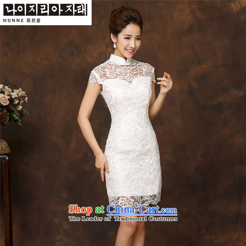 The spring and summer of 2015 New HANNIZI) Bride wedding dress evening dress package shoulder length of service packages shoulder short bows,?S