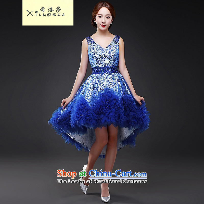 Hillo Lisa (XILUOSHA) photo building theme clothing wedding snapshot of your portrait of photography personal photo makeup wedding dresses 2015 new autumn blue?L