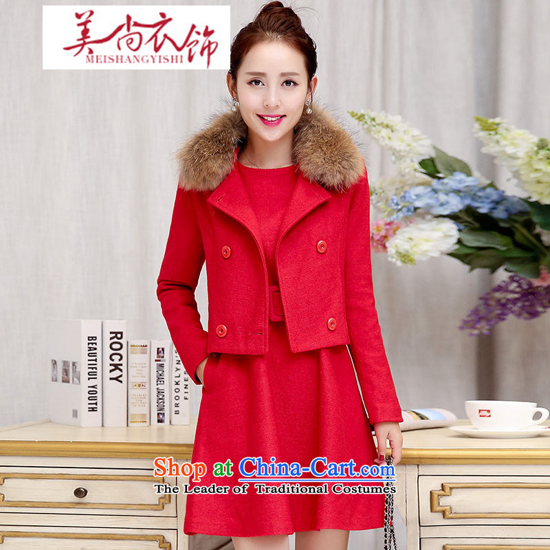 The United States is still fall/winter clothing and accessories for women new stylish Sau San Mao jacket? two kits dresses wedding dress bows back door onto red/really gross�M