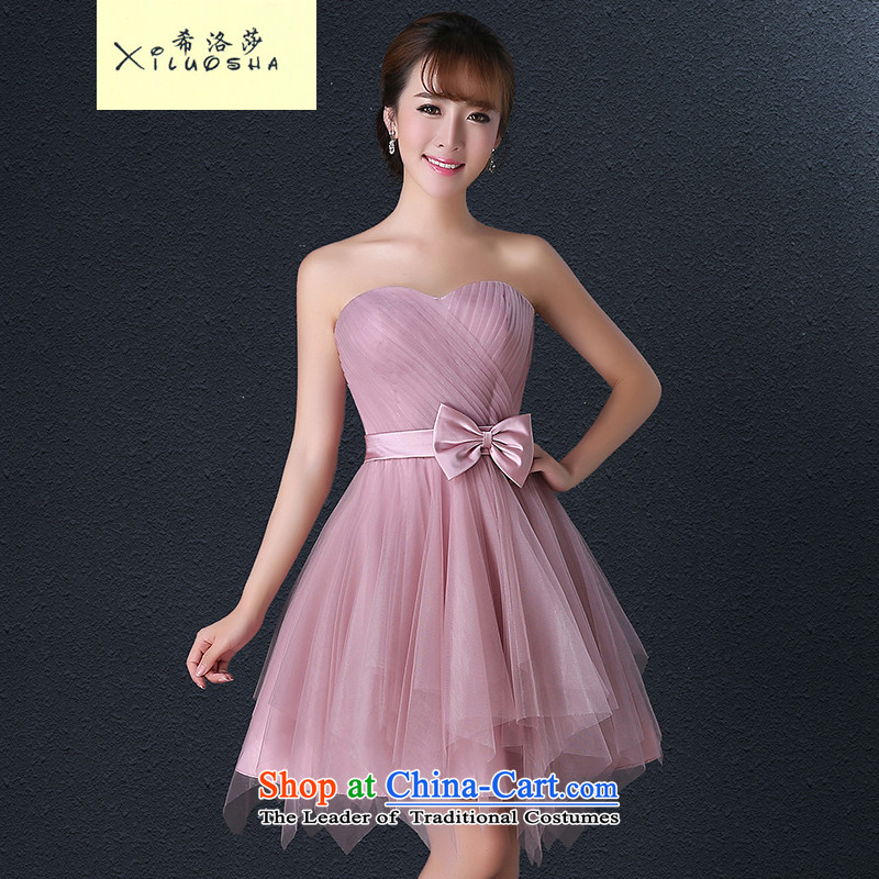 Hillo Lisa (XILUOSHA) bridesmaid services 2015 new bridesmaid dress small dress short skirts marriage) bridesmaid mission sister services meat small toner short skirt light purple - Erase A chest XXL