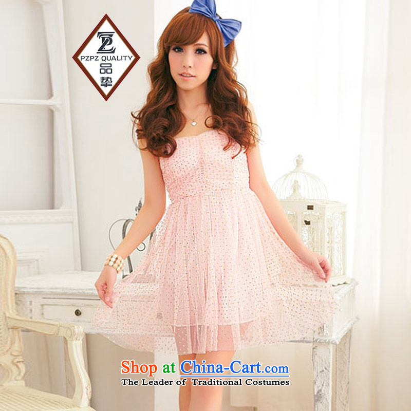 No. of 2015 Gold gauze elegant anointed chest bridesmaid sister dress dresses pink are code