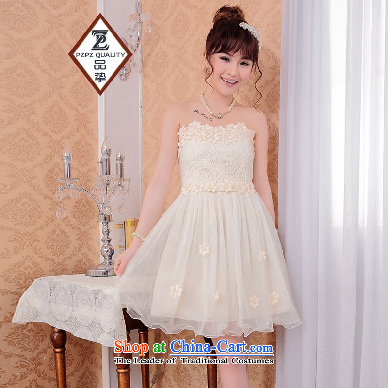No. of 2015 bridesmaid Dress Short, lace small dress sister skirt bows dress apricot are code