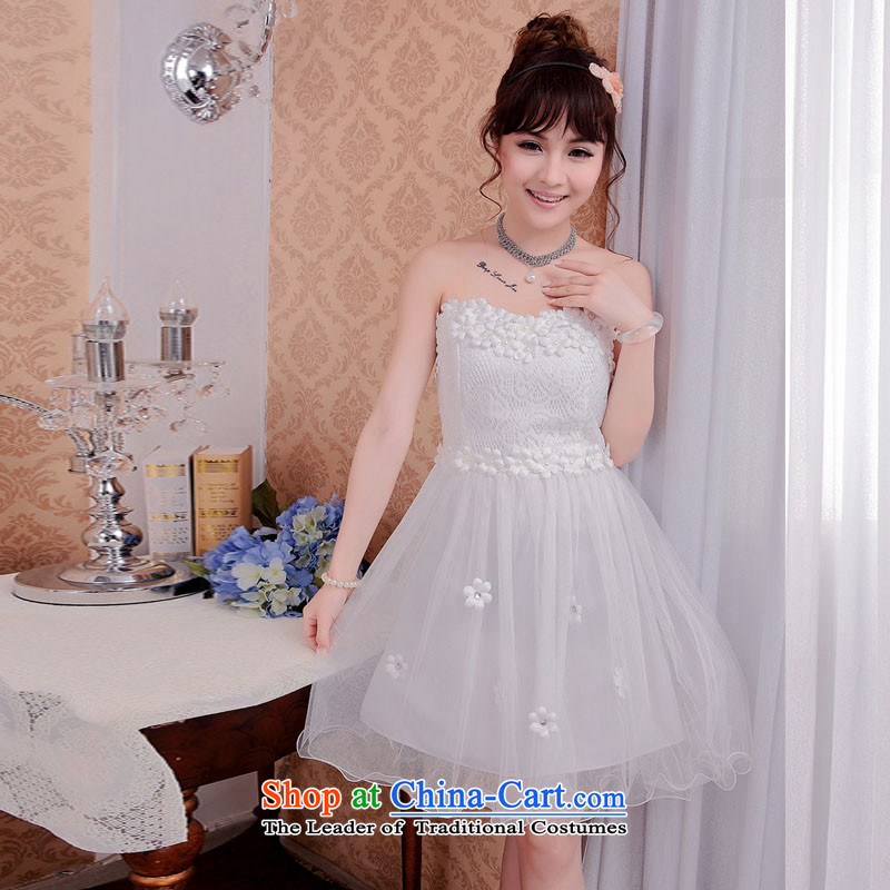 Andro ya 2015 bridesmaid Dress Short, lace small dress sister white dresses are toasting champagne skirt code