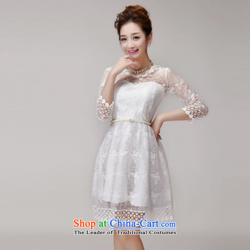 The status of the Staple Pearl Sau San Princess 2015 skirt dress champagne color and chest bridesmaid sister small white dresses services are code