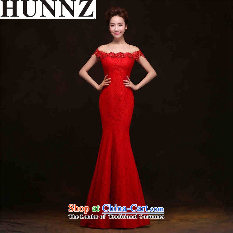 ?     ?Toasting champagne HANNIZI Services 2015 new spring and summer Korean fashion bride wedding dress banquet evening dresses red?L