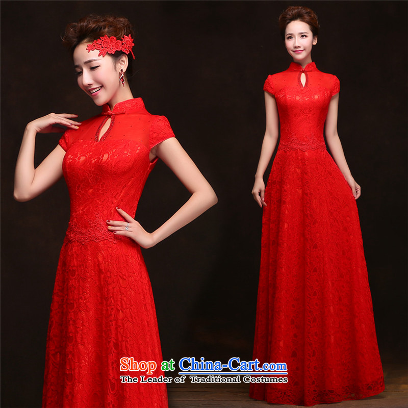 The spring and summer of 2015 New HUNNZ, Korean brides stylish wedding dress long banquet dinner dress RED?M