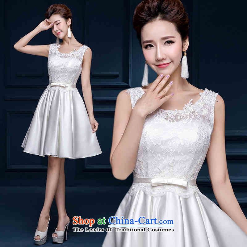 2015 Long one HUNNZ field Korean short, shoulder bridal dresses bows services bridesmaid services white, white?S