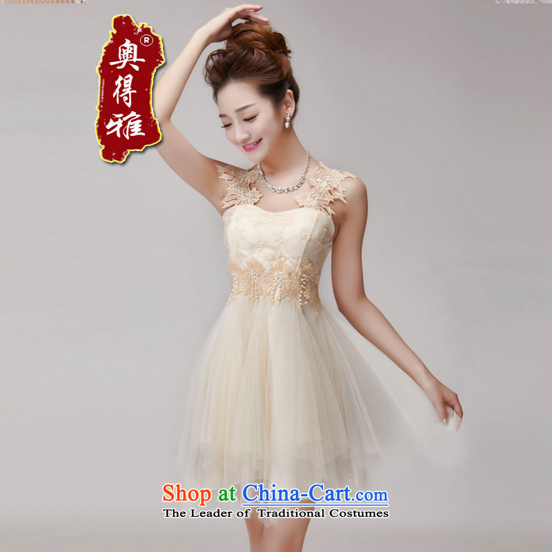 Andro ya 2015 hook wire manually set drill blossoms gemstone aristocratic princess foutune bon bon skirt bridesmaid sister dress apricot are code
