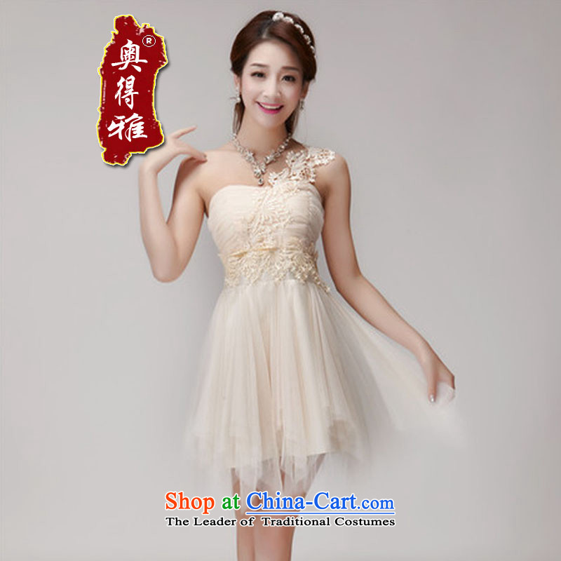 Andro ya 2015 nails pearl bridesmaid sister skirt short of services and banquet dinner dress small chest dress apricot color are code