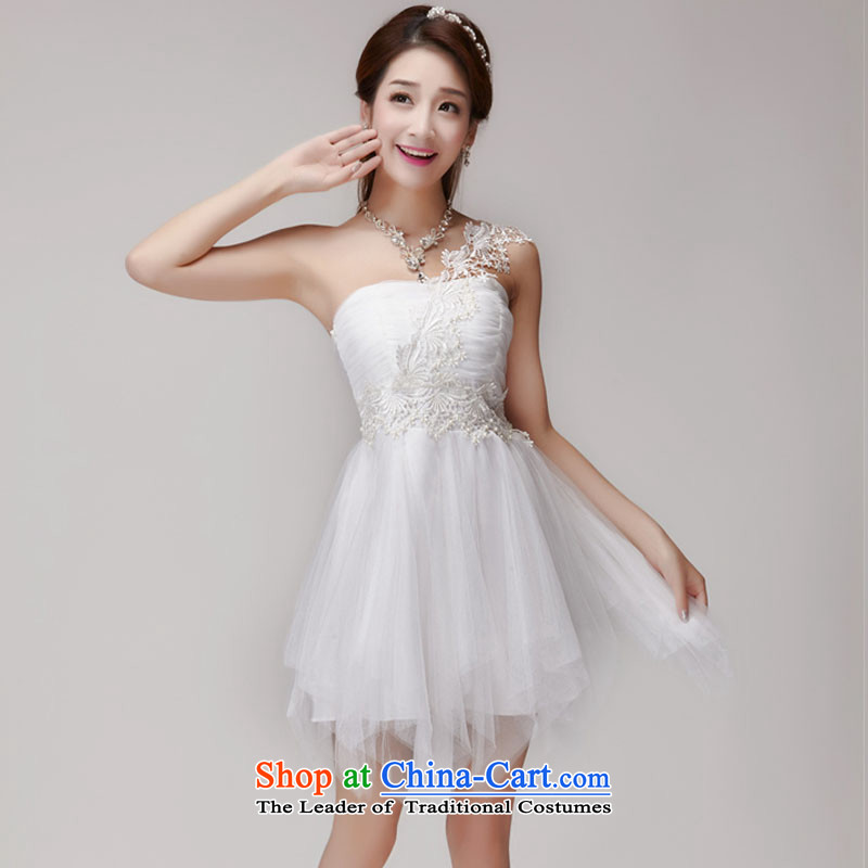The status of the Staple Pearl 2015 bridesmaid sister skirt short of services and banquet dinner dress small chest white dress code is