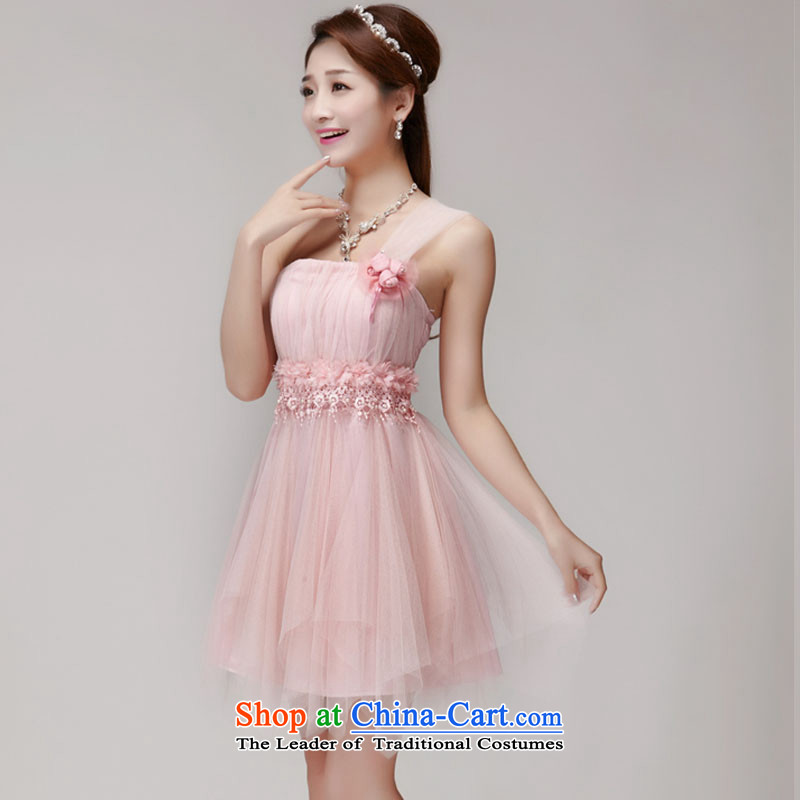 Andro Nga bridesmaid services 2015 bridesmaid mission dress evening dress sister skirts banquet short of small pink dresses are code