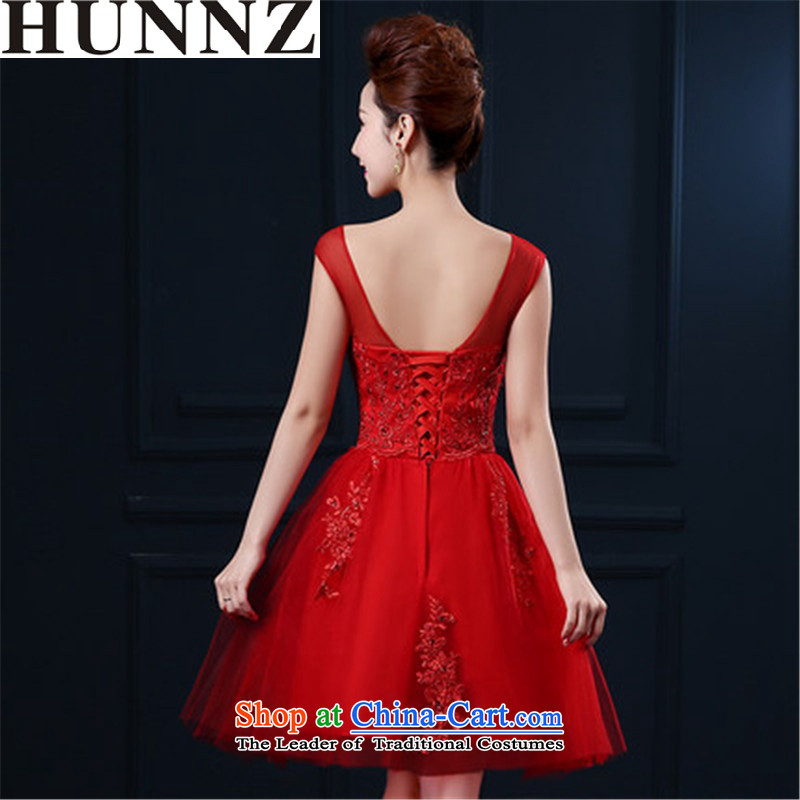 2015 Red Korean-style HUNNZ lace tie a field shoulder wedding dress dress bride bows services RED?M