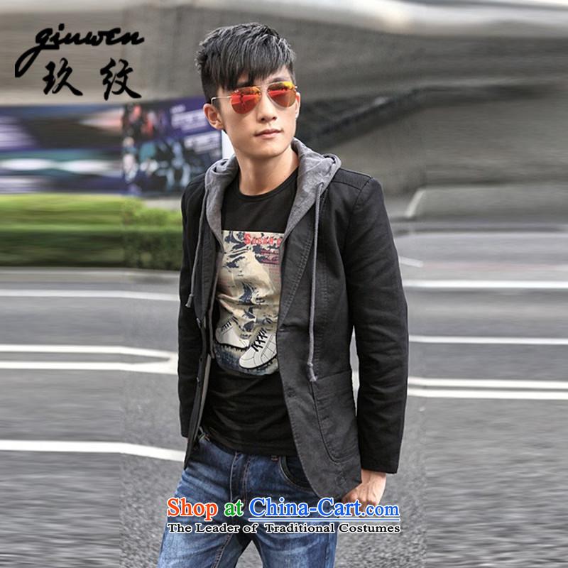 The new term of Ko Yo men fall leisure suit coats then west small business suit Korean XC-2027-1609 Sau San BlackXL