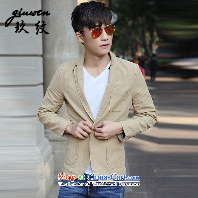 The new term of Ko Yo men fall leisure suit coats then west small business suit Korean XC-2027-1606 Sau San khaki?XXL