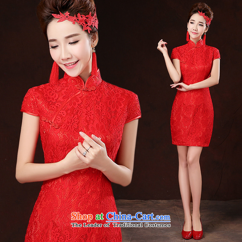 ?   ?Bridesmaid Services 2015 HUNNZ new spring and summer graphics thin large bride wedding dress uniform red red?XXL toasting champagne