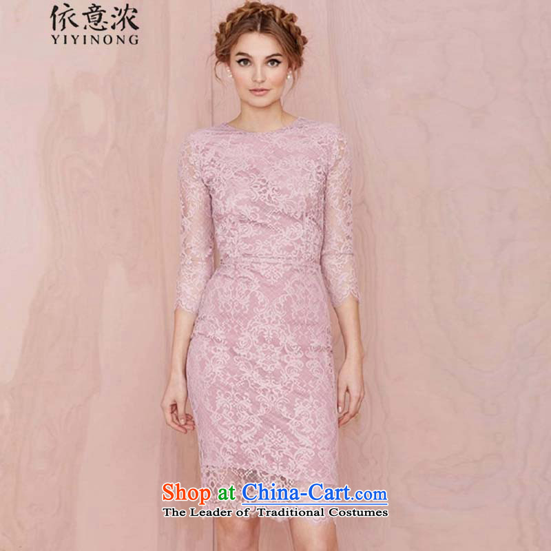 In accordance with the intention is thicker? 1906 2015 autumn and winter Terrace 3 waist detained Sau San dress skirt lace temperament package and dresses violet?L