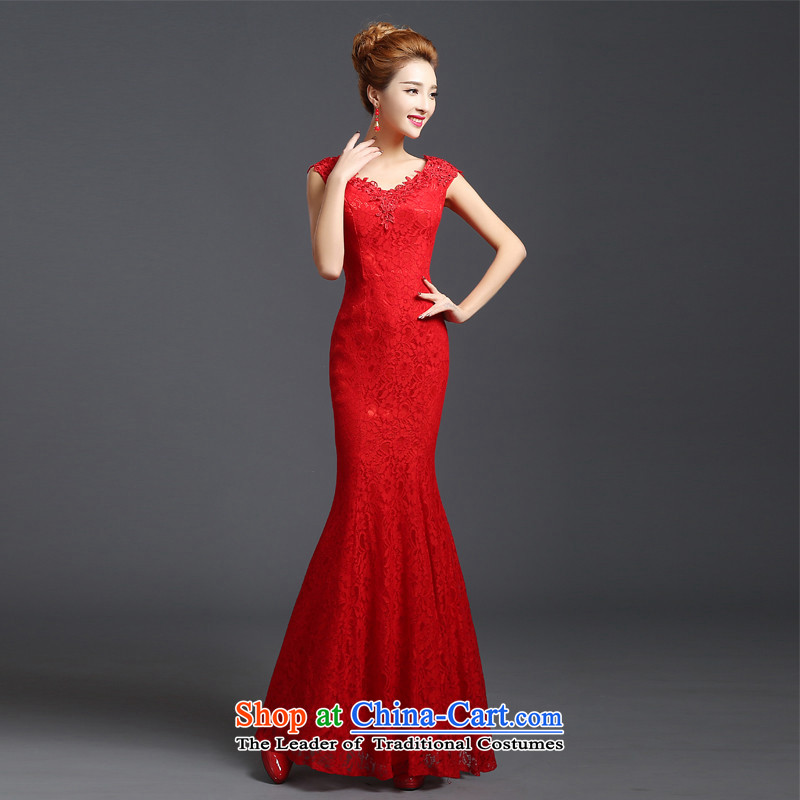 2015 Chief toasting champagne HUNNZ) red ethnic bride wedding dress banquet evening dresses red聽S,HUNNZ,,, shopping on the Internet