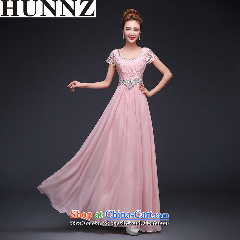 �   �Bridesmaid Services 2015 HUNNZ spring and summer new Korean Style New stylish wedding dress bows Service Bridal straps pink�XXL
