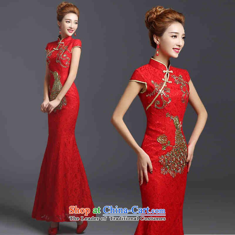 The spring and summer of 2015 New HANNIZI stylish large Sau San bride wedding dress the wedding-dress ethnic red�XXL