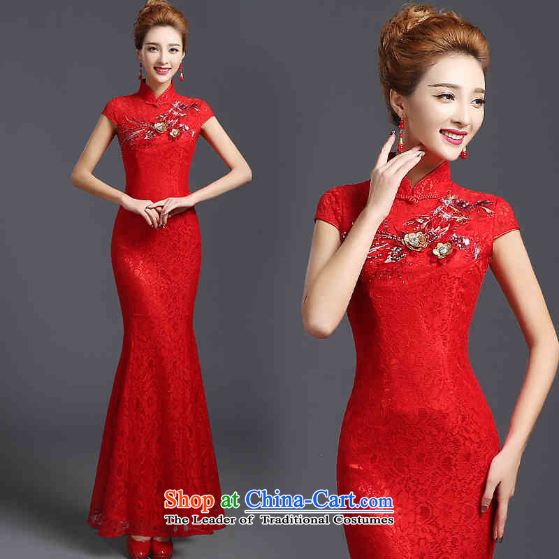 The spring and summer of 2015 New HANNIZI stylish large yards of ethnic banquet evening dresses bows Service Bridal RED�M