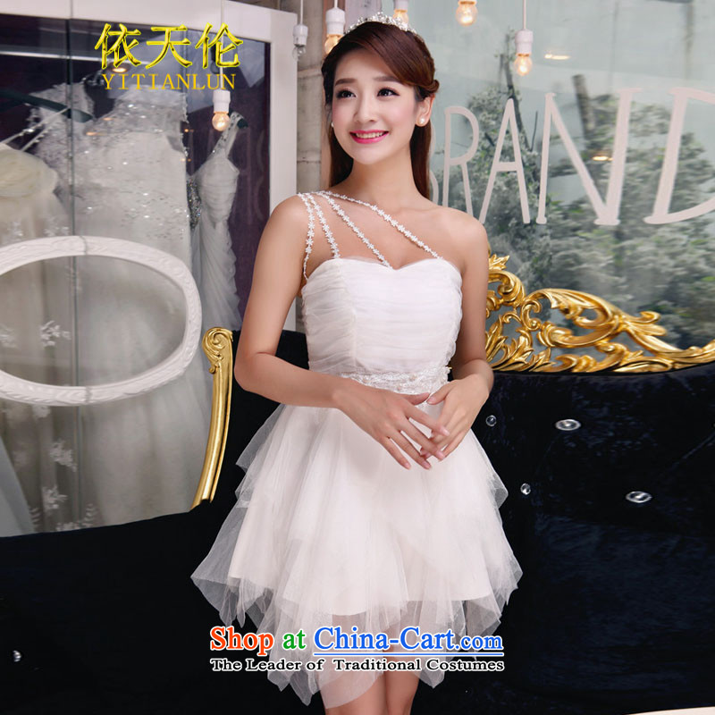 In accordance with the manual nail Pearl Tianlun International Diamond temperament and Sau San chest dresses bridesmaid TW8875 groups will white dress (85-115 catties)