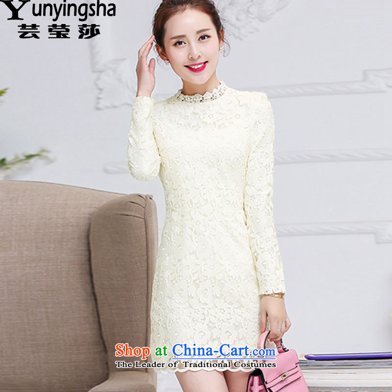 Yun-ying sa 2015 Autumn load new women's HANGZHOU CHAISHI IMP skirt wear shirts temperament of the Sau San children daily dress banquet skirt children?S m Yellow 9619