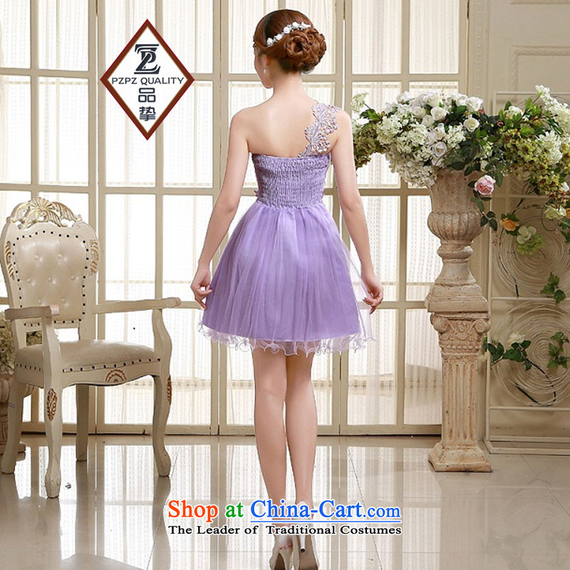 No. of pzpzquality (Shoulder) evening dresses bridesmaid small Dress Short, sister small dress bride bows to small Sau San dress code, champagne color are products of (pzpzquality) , , , shopping on the Internet