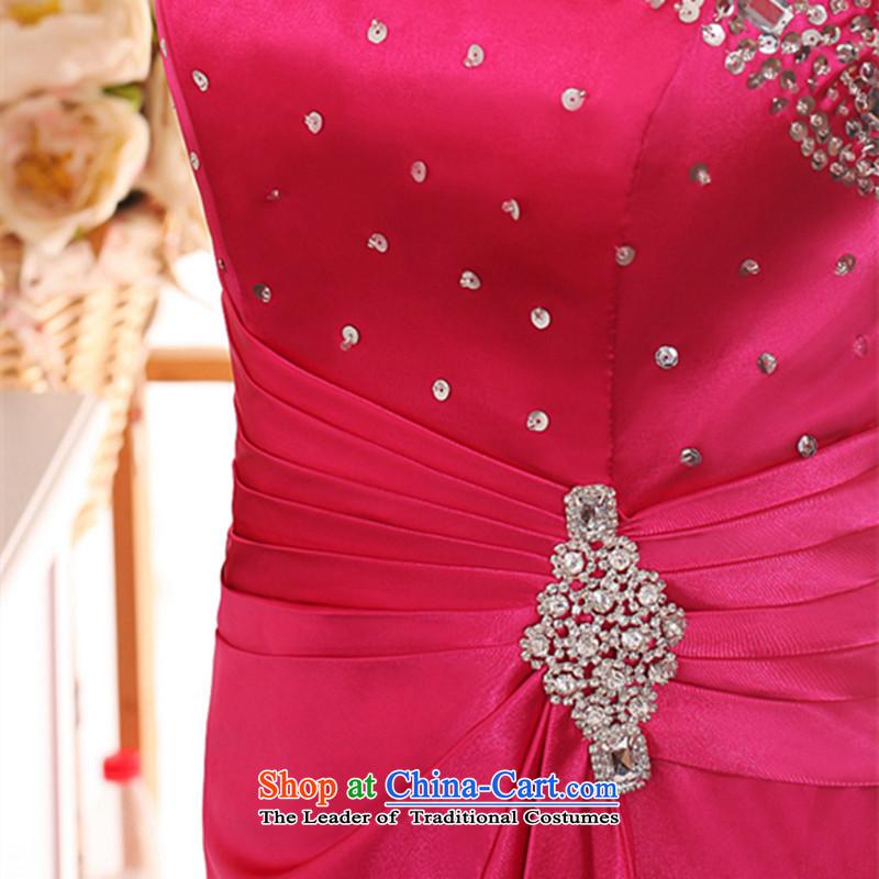 Hannizi 2015 stylish and simple large Sau San bride wedding dress shoulder banquet dinner dress in RED?M