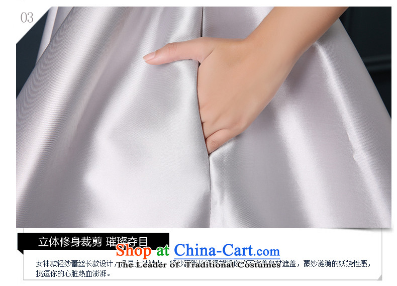 Time Syrian Smoke Gray marriages wedding short of serving bows wedding dresses qipao small 2015 new marriages bows Annual Dinner Performances Bridesmaid Smoke Gray聽S picture, prices, brand platters! The elections are supplied in the national character of distribution, so action, buy now enjoy more preferential! As soon as possible.