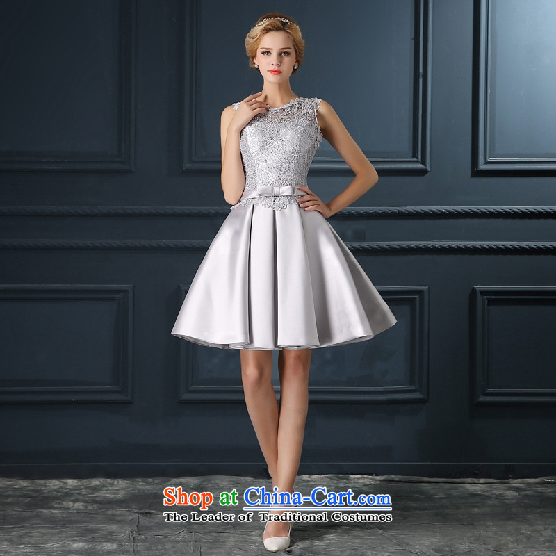Time Syrian Smoke Gray marriages wedding short of serving bows wedding dresses qipao small 2015 new marriages bows Annual Dinner Performances Bridesmaid Smoke Gray聽S time Syrian shopping on the Internet has been pressed.