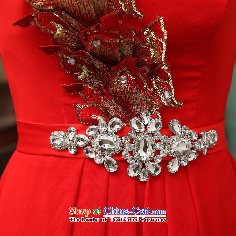 2015 Fashion straps HUNNZ shoulder bride wedding dress banquet evening dresses bows to red red聽S,HUNNZ,,, shopping on the Internet