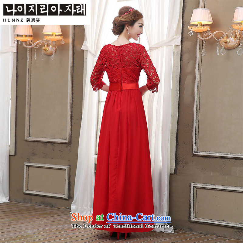 2015 Korean Beauty HANNIZI bride wedding banquet set evening dresses bows to red red聽S, Korea, Girl Gigi Lai (hannizi) , , , shopping on the Internet