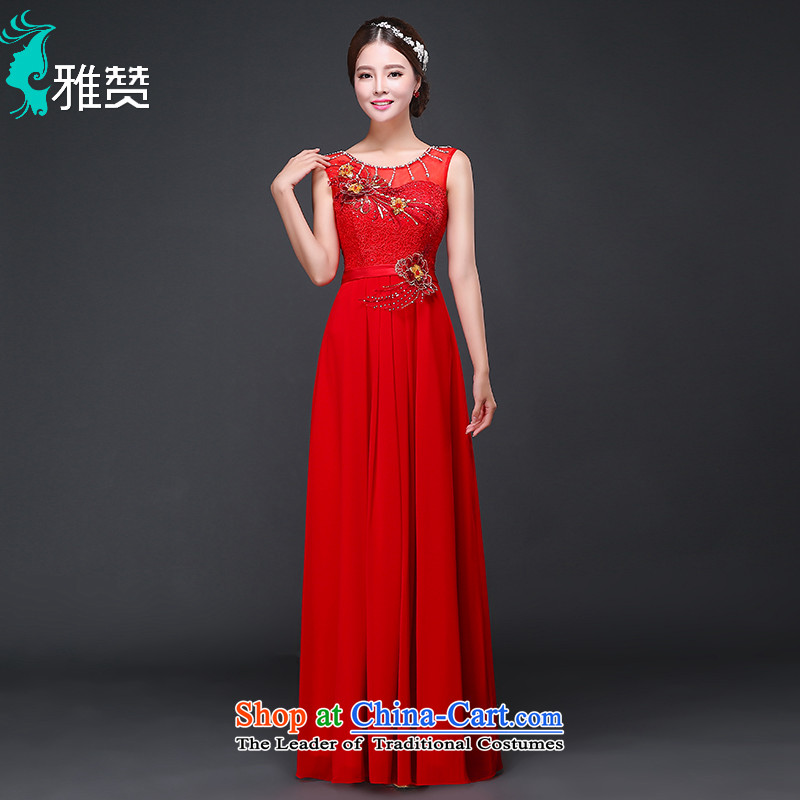 Jacob Chan marriage bows dress bride long Foutune of autumn 2015 new shoulders red evening wedding betrothal RED?M