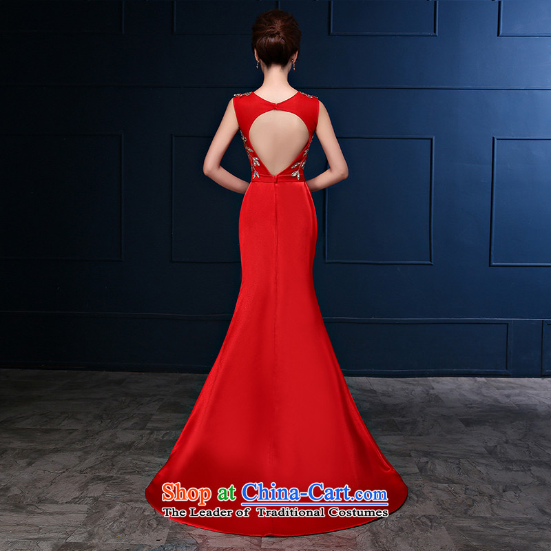Embroidered bride 2015 autumn is by no means new red shoulders bride crowsfoot bows large service banquet dress Sau San red tailor-made be no refund, embroidered bride shopping on the Internet has been pressed.