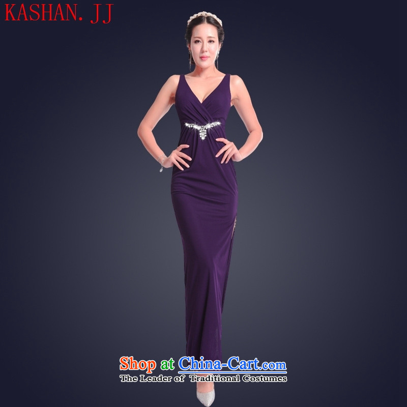 Mano-hwan's 2015 Summer sexy female nightclubs dresses long banquet dinner dress willserve the princess dress TKV PURPLEL