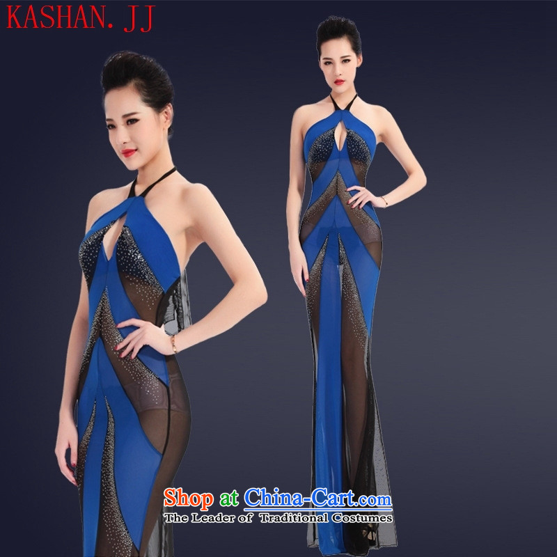 Mano-hwan's summer night and taste of women's dresses and sexy evening dresses gauze fluoroscopy loading hot temptation sauna service drill black?L