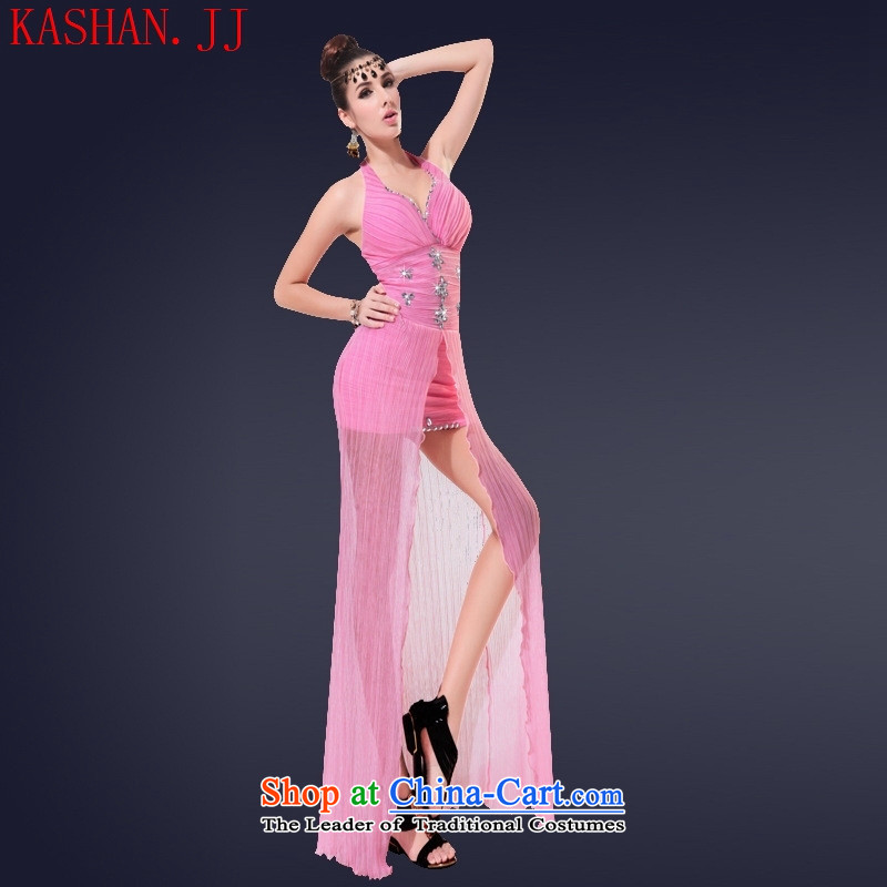 Mano-hwan's 2015 Summer sexy anointed chest dresses long night of Dress Short banquet will hotel workwear pink�S