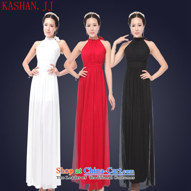 Mano-hwan's 2015 Summer sexy female nightclubs dresses long banquet evening dresses bows will serve the princess white 5 KTV496122�S