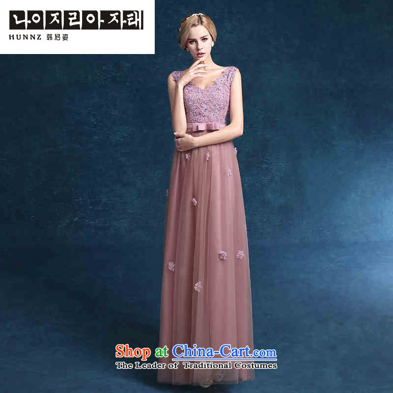 Hannizi 2015 stylish and simple elegant evening dress banquet Sau San long bride wedding dress the usual zongzi toner?XL