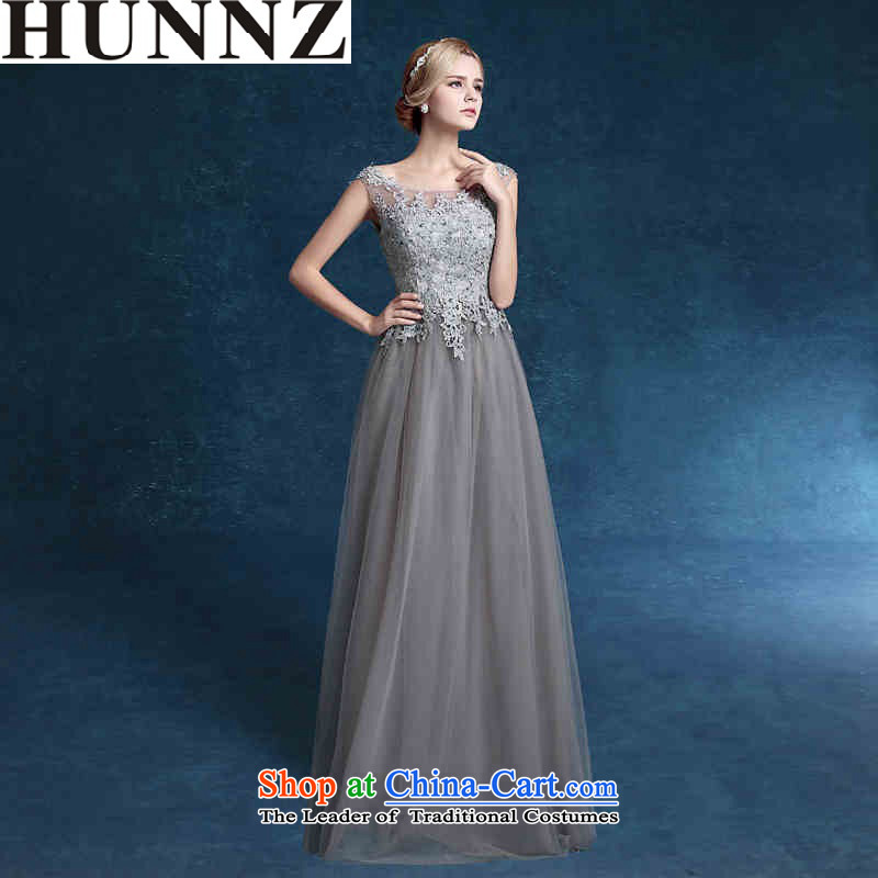 ?   ?Toasting champagne HUNNZ services bridesmaid services 2015 new spring and summer stylish bride wedding dress long evening dress Gray?L